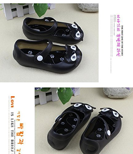 784ad2d22 Gaorui Baby Jelly Black Cat Shoe Cute Sandals Kid Slip-on child Summer  Ankle Strap