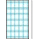 """Pacon 0077810 Paper Grid Roll with 1"""" Grid Rule, 34-1/2"""" x 200' Size, White"""