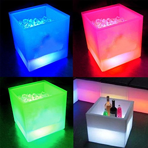 LED Light Luminous Red Wine Cooler Creative Red Wine Save Box (Color Red)