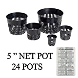 "Hydroponic Net Cup Pots + Twin Canaries Chart – 5"" Net Pot – 24 Pots Review"