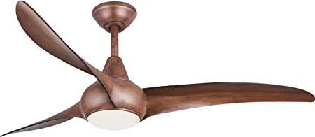 52 Minka Aire Light Wave Distressed Koa Ceiling Fan with Remote Control