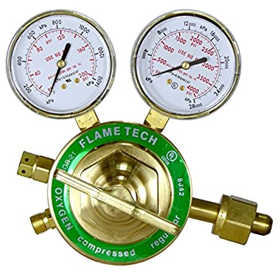Flame Technologies VHOR-21 Heavy Duty Oxygen Regulator, Victor Compatible