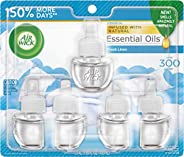 Air Wick Plug in Scented Oil 5 Refills, Fresh Linen, (5x0.67oz), Same Familiar Smell of Fresh Laundry, New loo