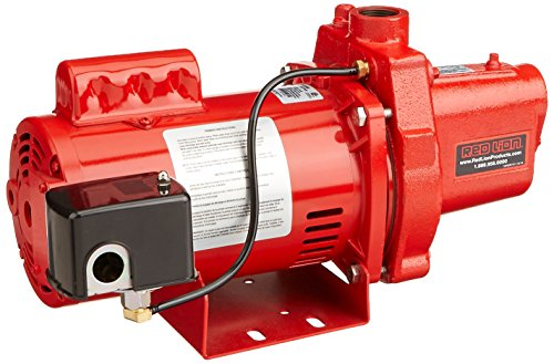 Red Lion RJS-100-PREM 602208 Premium Cast Iron Shallow Well Jet Pump for Wells up to 25 ft -