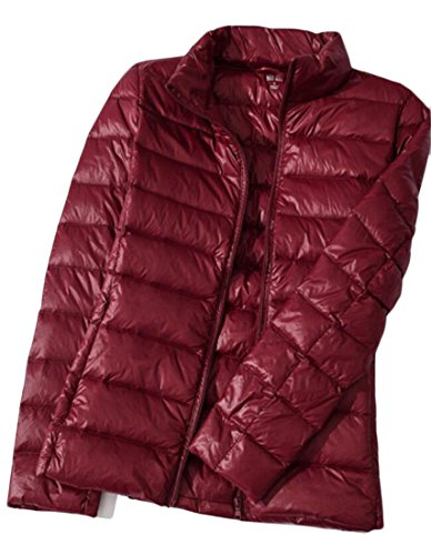Down Puffer amp;W Parka M Wine Red amp;S Coats Packable Stand Collar Women's 801qw
