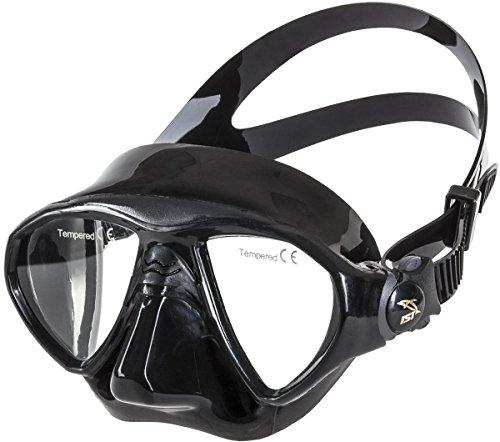 IST M99 Seal Twin Lens Dive Mask (Black/Black) ()
