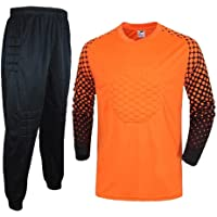 KSITH Traje de Portero de Fútbol Traje Camisa de Manga Larga Jersey de Hombre Traje de Portero Traje de Entrenamiento de Pórtico
