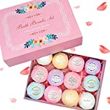 Bath Bombs,Sunvito Natural Essential Oils Soothing&Moist Skin/Relieve Dry Skin Perfect for Bubble & Spa Bath,3oz Each Ball, Best Gift Ideas for Wife, Girlfriend, Mom, Kids(12 ball)