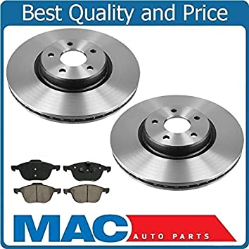 2012 2013 for Ford Focus Front /& Rear Brake Rotors /& Ceramic Pads Non-ST
