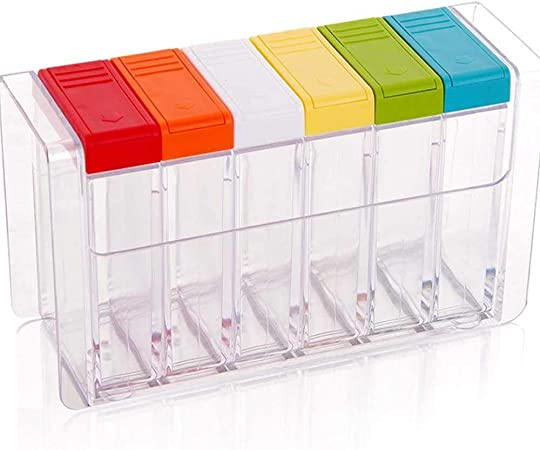 Vielseitige Box Gewürzdose Gewürzbehälter Transparenter für Gewürze,Salz Pfeffer