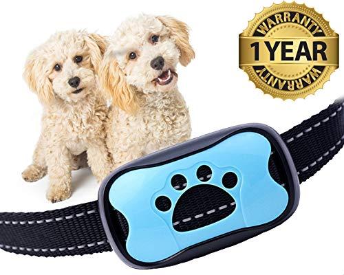 PAJP No Bark Dog Collar Bark Control Device Small Medium Large Dogs Upgrade Barking Training Collar Beep Levels Extremely Effective Collar Safe Anti Bark Device