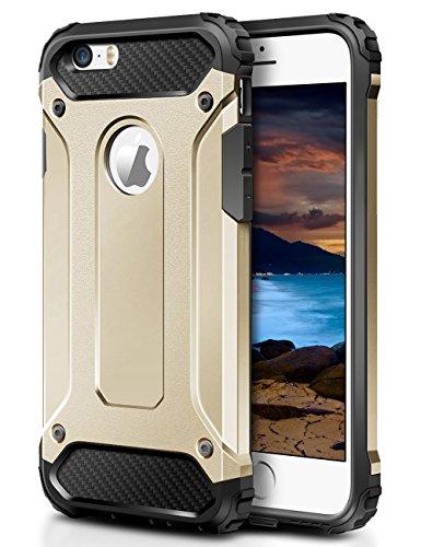 Slim Hybrid Armor Shell Case for Apple iPhone SE/5S/5 (Blue) - 3