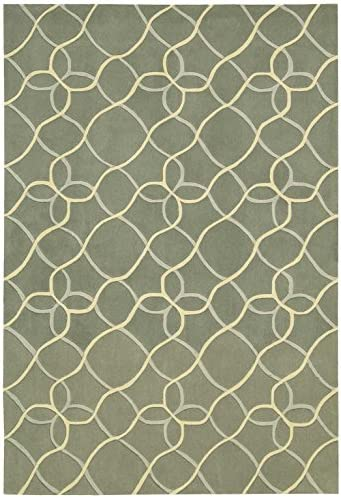 Nourison Contour Sage Rectangle Area Rug, 8-Feet by 10-Feet 6-Inches 8 x 10 6