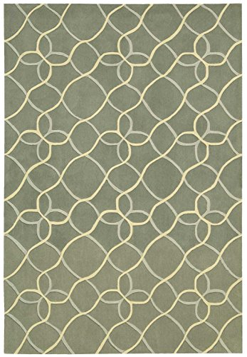 Nourison Contour (CON41) Sage Rectangle Area Rug, 8-Feet by 10-Feet 6-Inches (8' x 10'6
