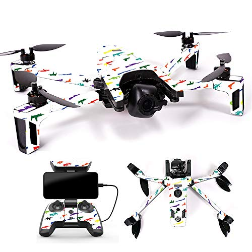 MightySkins Skin for Parrot Anafi Drone - Fun Guns | Protective, Durable, and Unique Vinyl Decal wrap Cover | Easy to Apply, Remove, and Change Styles | Made in The USA