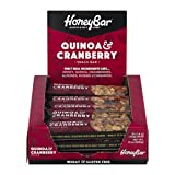 HoneyBar All-Natural Health Bar Quinoa & Cranberry Certified Kosher 1.4 oz – 15 Count For Sale