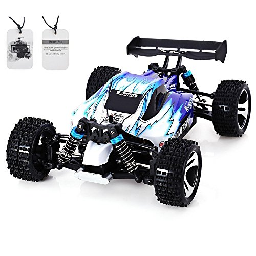 Hobby-Ace WLtoys A959 RC Car 1:18 Remote Control Electric Vehicle 2.4G 4WD Off Road Independent Suspension Buggy Radio Control RTR Blue