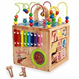 Wanju MEIDUO toys Children's Toys/All Solid Wood Large Beads Around Beads/Logs Environmental Toys/Baby Development Puzzle 18 Months -3-6 Years Old