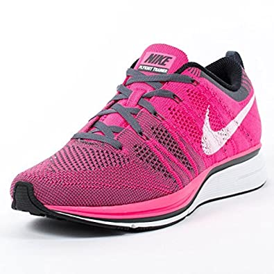 brand new 9fb75 024f0 Nike Men s Flyknit Trainer Punk Flash White-Dark Grey: Buy Online at Low  Prices in India - Amazon.in