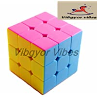 Vibgyor Vibes Magic Rubik Cube 3x3 Stickerless Speed Cube Puzzle (Train Your Brain), Multi Color