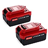 2 Packs 6.0Ah Extended Capacity Replacement for Porter Cable 20V Lithium-ion Battery MAX PCC685L PCC680L PCC682L PCC685LP