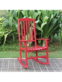 mainstays outdoor rocking chair red