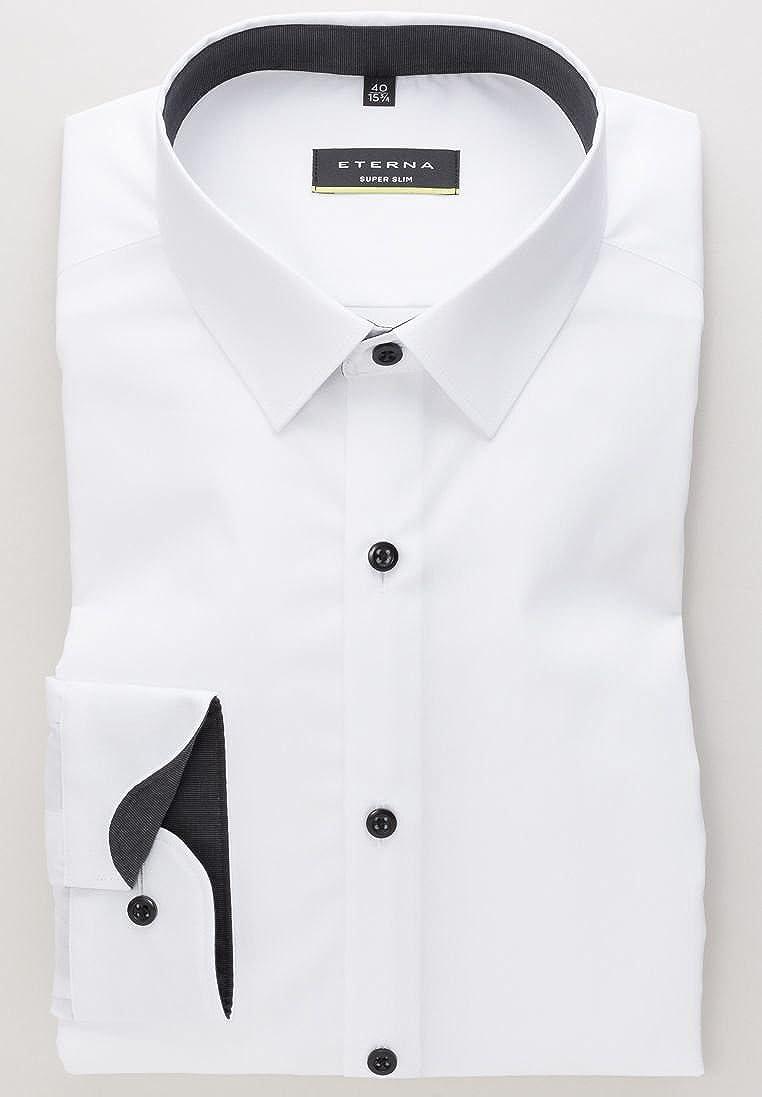 Stretch co Eterna UniAmazon Long Sleeve Super Slim ukClothing Shirt 3AjLq5R4