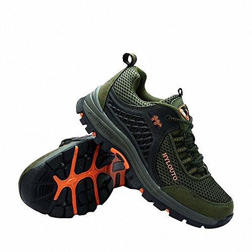 Ben Sports Zapatillas de senderismo Botas de senderismo Correr en montaña para Hombre,37-47 Verde