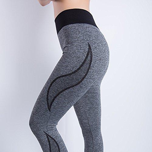 iLUGU Women Gym Yoga Patchwork Sports Running Fitness Leggings Pants Athletic Trouser(S,Black-35) by iLUGU (Image #4)