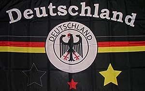 U24Bandera de Alemania fanflagge Negro 90x 150cm