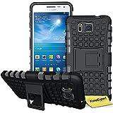 Galaxy Alpha G850 Case, FoneExpert® Heavy Duty Rugged Impact Armor Hybrid Kickstand Protective Cover Case For Samsung Galaxy Alpha G850 + Screen Protector & Cloth (Black)