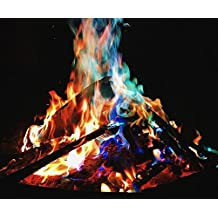10 packages- RAINBOW FIRE packs- coolest coloured flames-color your campfire multi colors-