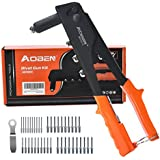 AOBEN Rivet Gun, Professional Rivet Gun Kit with 200-Piece Metal Rivets, Single Hand Manual Rivet Tool for Automotive, Railway, Furniture, Instrument.