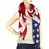 vintage american flag scarf - Falari Large USA American Flag Scarf Beach Wrap Soft Lightweight 72