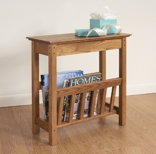Golden Oak Desk (Manchester Wood Chairside Magazine Rack - Golden Oak)