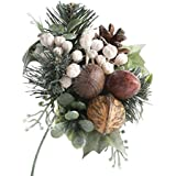 Factory Direct Craft Group of 6 Holiday Artificial Walnut and Pine Picks for Arranging, Crafting and Designing
