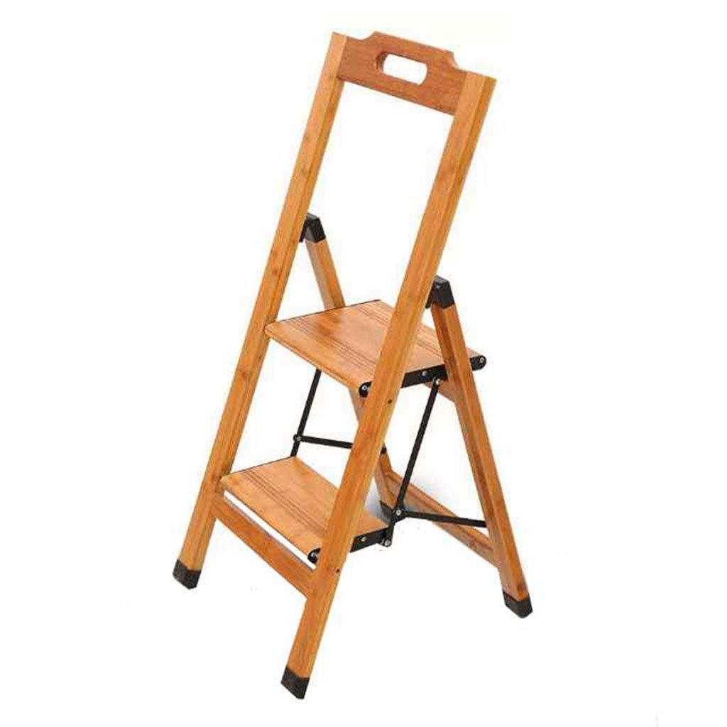ステップ台- 木製の折りたたみペダルのはしごステップはしごの階段多機能2ステップ43.5x46x90CM B07GL9TBSM