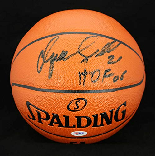 Dominique Wilkins Autographed Signed I/O Ncaa Basketball + Hof 06 Hawks PSA/DNA Autographed Signed