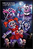 Five Nights At Freddy's - Framed Gaming Poster / Print (Sister Location) (Size: 24'' x 36'') (By POSTER STOP ONLINE)