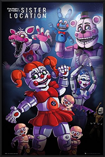 Five Nights At Freddy's - Framed Gaming Poster / Print