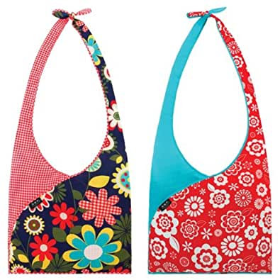 Envirosax Set of 2 Slingsax Bag, Gingham & Blue