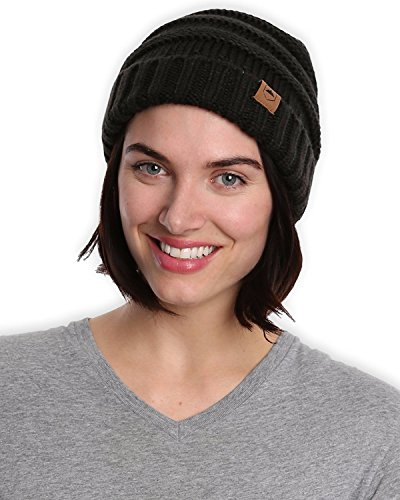 91a26ea155d Jual Slouchy Cable Knit Cuff Beanie - Chunky