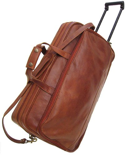 Floto Luggage Large Milano Trolley Wheeled, Vecchio Brown, Large by Floto