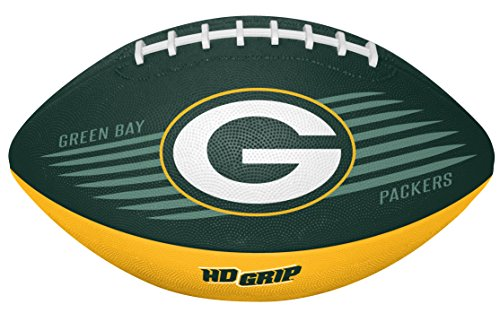 Rawlings NFL Bay Packers 07731068111NFL Downfield Football (All Team Options), Green, Youth