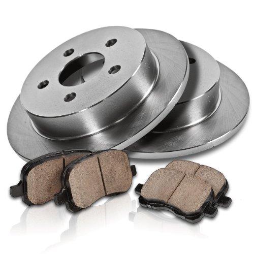 Callahan REAR Premium Grade OE 5 Lug 262 mm [2] Rotors + [4] Quiet Low Dust Ceramic Brake Pads Kit CK005616