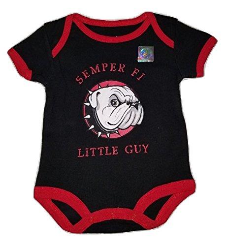(TC Bulldog U.S.M.C. Semper Fi Little Guy Baby Bodysuit (0-3 months))
