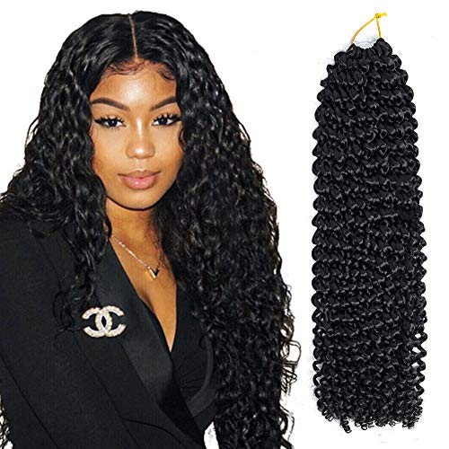 (Roktress Passion Twist Hair 18 Inch 22 Strands Long Bohemian Braid Crochet Hair for Passion Twist Water Wave 100% Kanekalon Synthetic Fiber Hot Water Setting Natural Hair Extension (18