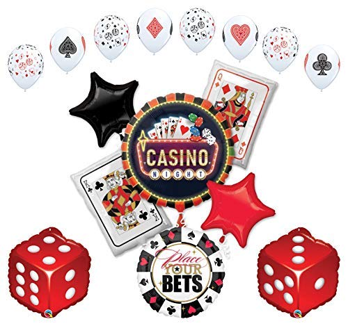 Mayflower Products Casino Night Party Supplies Cards and Dice Balloon Bouquet Decorations -