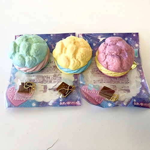 Original Japan NIC Cafe de n Cream puff Scented series squishy Slow Rising Original Package Kid toy squishy cake bread