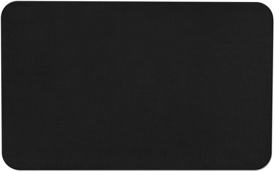 House, Home and More Skid-Resistant Carpet Indoor Area Rug Floor Mat - Black - 3 Feet X 5 Feet